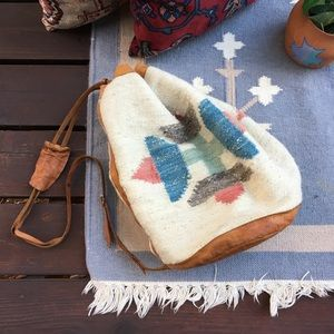 Vintage Leather Southwest Boho Bag